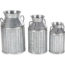 Deco 79 Traditional 3-Tiered Aluminium Tray W-30876 24 H x 17 L Smooth Silver Finish 24 H x 17 L Smooth Silver Finish