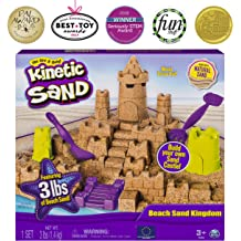 8aa406975e Kinetic Sand Beach Sand Kingdom Playset with 3lbs of Beach Sand, for Ages 3  and